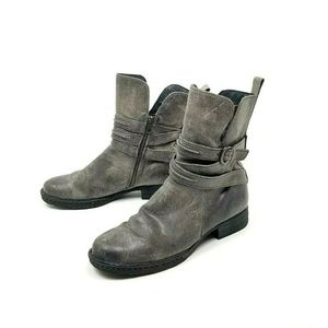Born Cross Peltro D38322 Gray Brown Ankle Boots